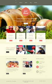 Baseball Websites Templates Website Template 52649 Lux Game Baseball Custom Website Template