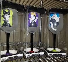 disney villains wine glass goblet set ursula evil queen maleficent holiday 45 44 pic uk