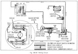 car wiring diagram page 68 parking circuit of 1966 oldsmobile 33 through 86 series windshield wipers