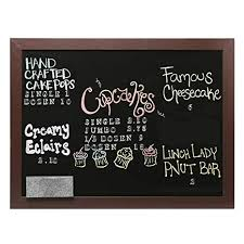 Chalkboard Menu Board Wall Mounted Hanging Wood Frame Chalkboard Display Sign Cafe Menu Board