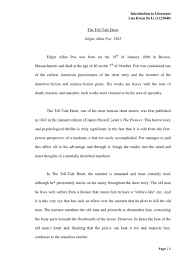 essay tell tale heart narration