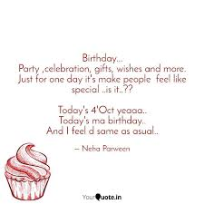 Birthday Party Celebr Quotes Writings By Neha Parween