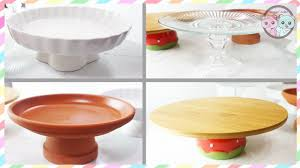 DIY CAKE STAND, DIY CUPCAKE STAND, HOW TO MAKE CAKE STANDS UNDER $3! -  SUGARCODER