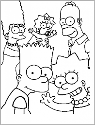 Free Printable Simpsons Coloring Pages For Kids Cartoon Coloring
