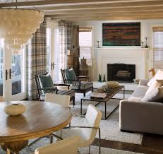 transitional chair family room beach style with british colonial open plan