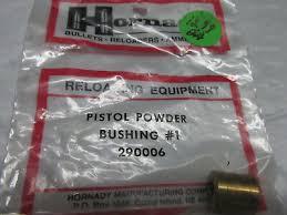 Hs Hornady Pistol Powder Bushing 1 290006 New In Package