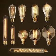 retro vintage style e27 40w 110v 220v glass edison light bulb