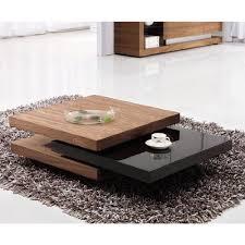 Iva Black/Walnut Rotating Coffee Table - Coffee Tables Deals