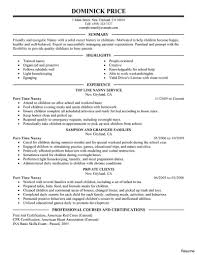 Part Time Job Resume Examples Example Of A Resume For Part Time Job