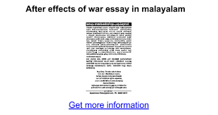 after effects of war essay in malayalam google docs