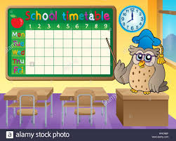 School Time Table Chart Stock Photos School Time Table