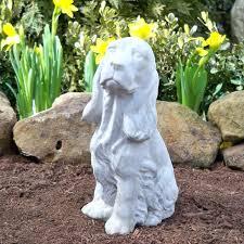 dog garden statue. Pleasurable Design Ideas Dog Garden Statues Modest Figurinesresin Angel For Small Statue P