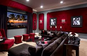fabric covered home elements and style medium size fabric panels for walls home theater traditional with carpet coffee