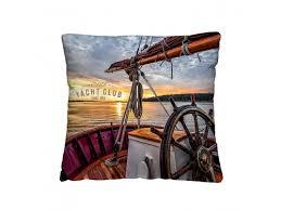 Купить <b>подушку декоративную</b> Волшебная ночь (<b>40x40см</b>) Яхта ...