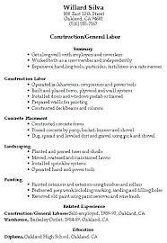 manual labor resume sample resume general labor manufacturing resume  template general labor resume samples free