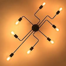 wrought iron chandelier on the ceiling 4 6 8 heads chandeliers multiple rod black lighting fixtures