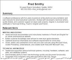 Professional And Technical Skills For Resume Skills Resume Samples Examples For Students Of Language Section