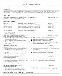Student Nurse Resume Template Student Nurse Resume Sample Successmaker Co