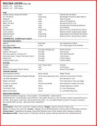 Unique Acting Resume Format Personal Leave