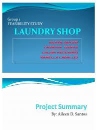 Feasibility Studies Laundry Shop Washing Machine Clothing Sample Financial Statement Laundry Business