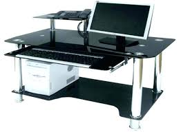 medium size of black glass computer desk homebase uk trolley furniture charming and table argos