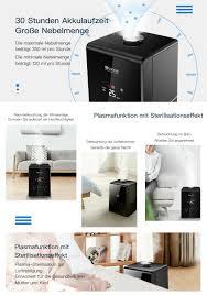 Proscenic Alexa Ultraschall Luftbefeuchter Schlafzimmer Heizung Led