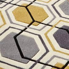 shining grey yellow rug rugs decoration