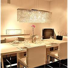 kitchen island chandelier lighting. Plain Chandelier Siljoy Modern Crystal Chandelier Lighting Rectangular Oval Pendant Lights  For Dining Room Kitchen Island L 374 Inside S