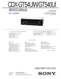 sony cdx 3100 service manual schematics eeprom sony cdx gt54uiw