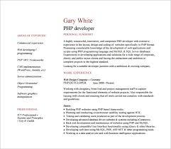 Php Developer Resume Download Resume Php Developer