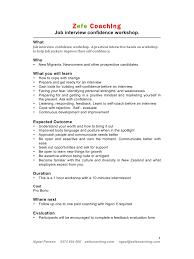 Microsoft Word Confidence Doc Job Interview Confidence Workshop