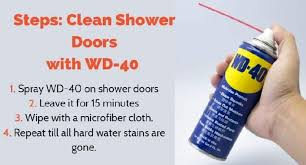 how to clean shower doors with wd 40