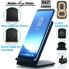 iphone wireless charging pad. qi wireless fast charger charging pad stand dock samsung galaxy s8+ iphone x 8 7 iphone