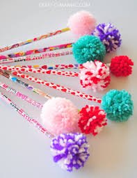 yarn pom pom pencils3