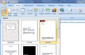 Ms Word Page Designs Tutorial How To Create And Save A Custom Cover Page In Word