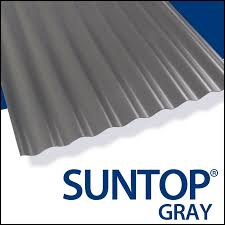castle grey 12 feet photo of suntop corrugated roofing panels
