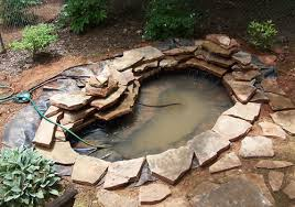 make sure the liner pump and tubing for the waterfall are all in place see detailed instruction for building the waterfall below