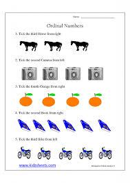 Math Worksheets for Kindergarten ordinal Numbers | Homeshealth.info