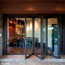 outdoor aluminum folding glass doors