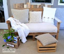 crate outdoor furniture. A Rustic Bench With Foot Stool Crate Outdoor Furniture W