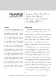 Abortion is the issue that cares for women with an unplanned or unwanted pregnancy. Pdf Corruption Practices Among Young Elective Public Officials Sanggunian Kabataan In Iligan City Southern Philippines