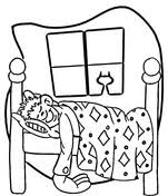 Small Picture Bed coloring pages Free Printable Pictures