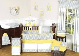 image of yellow and gray baby girl crib bedding sets brown set