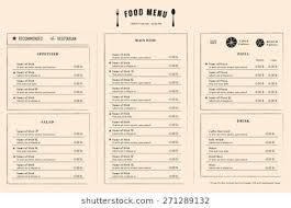 Restaurant Menu Design Templates Restaurant Menu Design Template Layout Nw Menu Layout Template