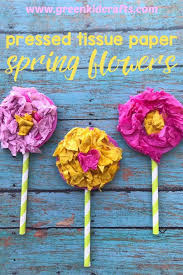 Paper Flower Crafts For Kindergarten Spring Craft Archives Monthly Science And Art Projects For Kids