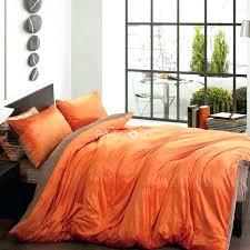 solid orange comforter burnt set new two color and brown velvet 4 bedding king sets twin