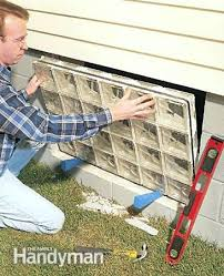 basement block window insert the block panel glass block basement windows cost
