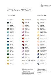 Optima Colour Chart By Preciosa Crystal Components Issuu