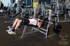 Decline Barbell Bench Press  Weight Training Exercises 4 YouDecline Barbell Bench