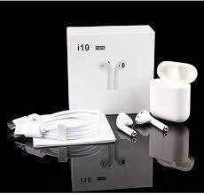 I10 <b>Tws Bluetooth Earphone V5.0</b> Touch Control Wireless Charging ...